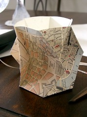 Hyperboloidal Hex Vase (oschene) Tags: circle origami map vase hex coolingtower hyperboloid