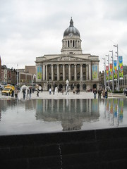 The new fountain in the old market Square 3/6 (Z303) Tags: nottingham water fountain oldmarketsquare
