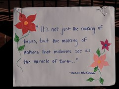 Barbara Katz Rothman Quote On A Sign In