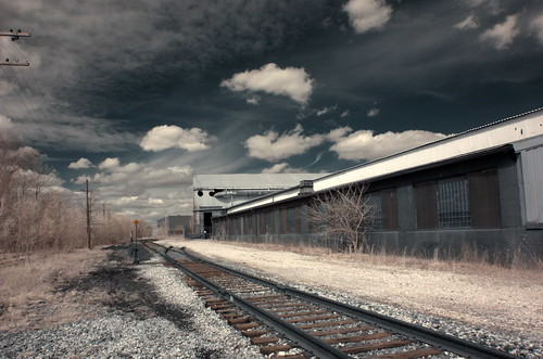 Infrared tracks and industrial complex