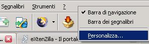 extenzilla - 5 - menu personalizza barra navigazione