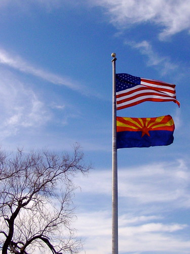 U.S. and Arizona Flags