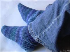 Ribbed Socks in Trekking