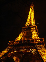 Golden magic - the Eiffel Tower at night
