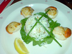 scallops with kedgeree