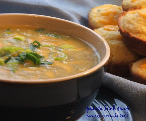 easy recipe potato leek soup