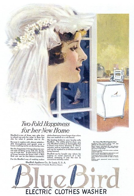 Blue Bird Electric Clothes Washer, 1920