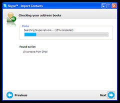 Import contacts — importing