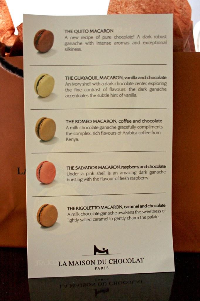 New Macaron Flavors @ La Maison du Chocolat!