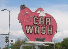 Pink Elephant Car Wash (Ryan Hadley) Tags: seattle pink usa elephant sign washington carwash belltown pinkelephant pinkelephantcarwash elephantcarwash