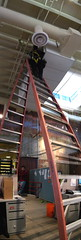 Big Ladder (EricByers) Tags: office blurry stitch panoramic verticalstitch bigladder supercrappystitchjob