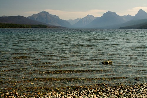 Along the Shore of Lake McDonald