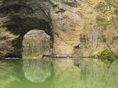 Natural arch in Rakov Skocjan, Slovenia