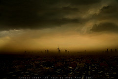 Kuwait Under The Rain (Heba AL-Jadaan (Heba _ photo)) Tags: street storm love rain fog clouds canon kuwait liberation q8 heba myheart thebestphotographerever