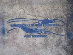 Norwich School of Angst & Depression (i_gallagher) Tags: blue urban streetart altered logo typography graffiti stencil text depression norwich angst pastiche idg nsad