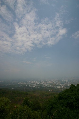 Viewpoint on Doi Suthep mountain. Chiang Mai.