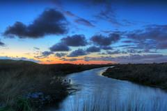 Evening Creek (flopper) Tags: sunset sky water clouds creek evening bravo interestingness9 fremontca interestingness12 interestingness4 flopper