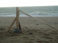 Boat on beach, 2007 (Steve from London) Tags: sea art boat cornwall installation porthleven loepool