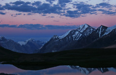Mesmerizing sunset on Karomber Lake, Pakistan (Kaafoor) Tags: trip travel blue pakistan sunset summer lake beautiful beauty north visit best valley stunning pakistani pow favourite bdp adeel aftersunset iloveit northernarea flickrsbest karambar theworldsbest greaan karombar karomber ilovetraveling bdppow ihavebeentothisplace height4272m approxlength39km width2km averagedepth52m latituden36deg530326 longitudee73deg424403 korambar karambarlake