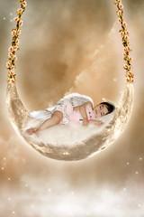 sleeping angel (mylaphotography) Tags: sleeping moon art beauty angel clouds stars photo wings digitalart manipulation fantasy rahi childphotography jaber anawesomeshot aplusphoto flickrdiamond mylaphotography michiganstudiophotography fairytalephotography