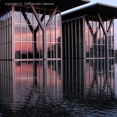 rhythm - joy (fake_plastic_earth) Tags: reflection water museum architecture sunrise reflections square japanese texas tx explore architect dfw ftworth emotions coolest themodern tadaoando  explored  japanesearchitect   ftwortharchitecture modernmuseumofftworth 01moo