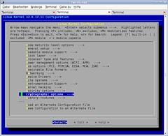 Kernel menuconfig 1