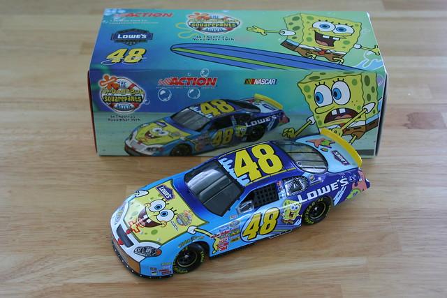chevrolet 2004 johnson montecarlo chevy nascar spongebob series lowes 48 spongebobsquarepants busch diecast hendrick jimmiejohnson hendrickmotorsports buschseries 124scale loweshomeimprovement