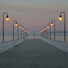 after the sunset (gabir) Tags: sunset sea poland polska balticsea symmetry molo gdynia orowo gabir supershot woodenpier superaplus aplusphoto