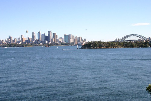 View of the city from the Taronga Zoo