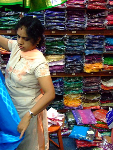 Shopping for Saris in Little India