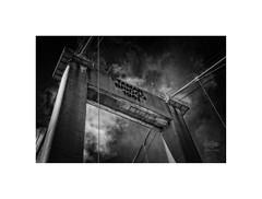 (silver/halide) Tags: tamar rivertamar tamarbridge toll tollbridge devon cornwall johnbaker d750 mono monochrome bw blackandwhite 50mm18g niftyfifty architecture 1960s 1960sarchitecture bol urban bridge brutalist saltash