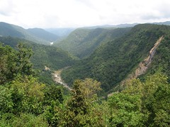 Another view of the valley_ the falls on the right is a monsoon special_ flowing from one of the dams in the region