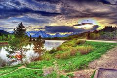 Oxbow Bend @ Grand Teton (dracoLLL) Tags: mountains water river nationalpark skies tag1 hdr grandtetonnationalpark