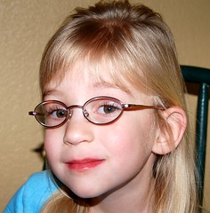 Lindsey with her new glasses