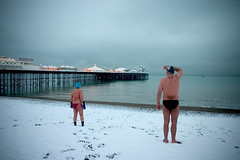 snowy swim #4 (lomokev) Tags: morning winter snow man cold male beach female canon eos brighton 300d angus bikini janet swimmers canoneos canoneos300d  deletetag eaglefestival brightonswimmingclub janetr snowyswim angusk submittedtojpg file:name=crw7056 rota:type=showall rota:type=composition rota:type=portraits top10brighton snowyswim2007 eaglefestivalbig posted:to=tumblr