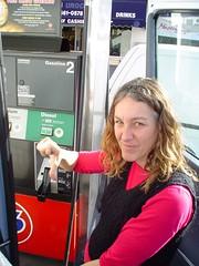 Elizabeth is  bummed! Fossil Fuel going in...