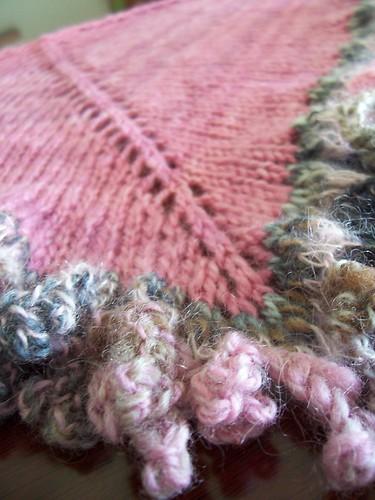 la la scarf, picot bind off