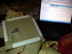 Cross Stitch and Laptop