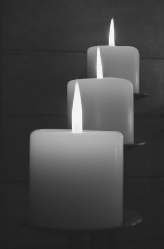 Candles In Black And White