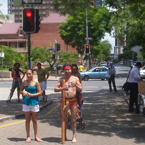 Audience at Invasion Day Rally and March, Parliament House, George St, Brisbane, Queensland, Australia 070126
