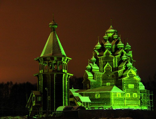Green color of Church