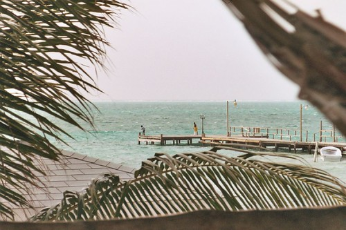 View from Tinas Hostel - Caye Caulker, Belize