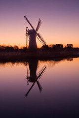 Thurne Dyke Mill in the twilight of the dawn (. Andrew Dunn .) Tags: uk longexposure england reflection mill windmill silhouette river landscape dawn twilight britain norfolk eastanglia windpower windpump norfolkbroads interestingness14 i500 drainagemill cy2 challengeyouwinner abigfave thurnedyke aplusphoto riverthurne