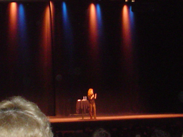 Kathy on Stage