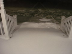 snow storm - porch steps