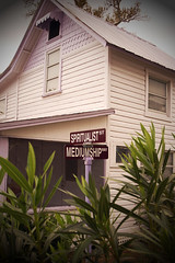 At the Crossroads of Bullshit (Matt Niemi) Tags: house signs florida bullshit psychics cassadaga mediumship spiritualist weirdtown