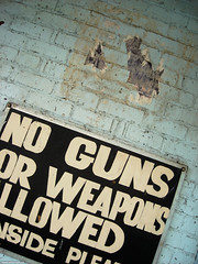 No guns or weapons allowed
