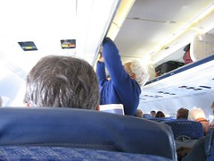 mo rocca's head (goodiesfirst) Tags: chicago airplane morocca