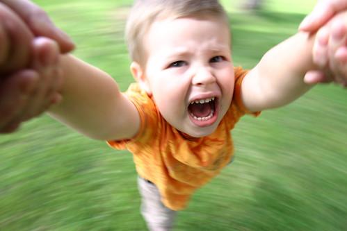 spinning kid