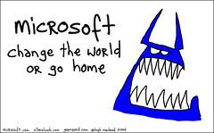 Hugh made a Blue Monster for Microsoft!